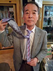 溝口晴夫さんネクタイ