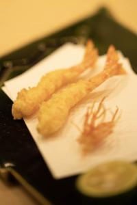 零響の会海老の天ぷら